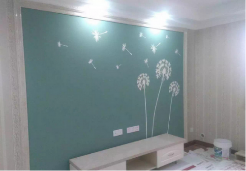 家装电视墙油漆工艺